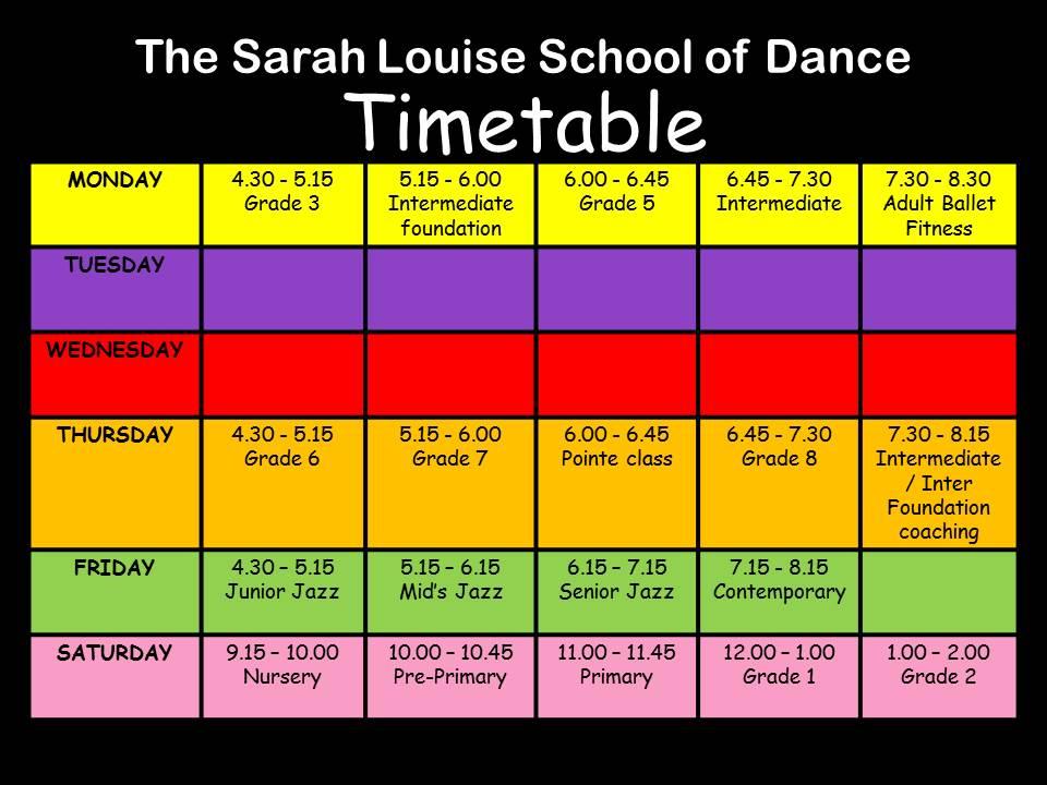 weekly schedule term